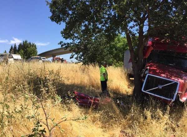 """The CHP said the big rig driver """"plowed through""""eight cars in front of him, but officers are not sure what caused the driver to do that. (June 16, 2015)"""