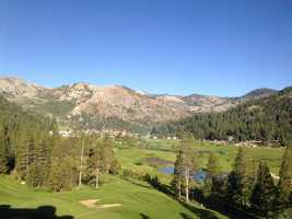 14. Take your best shot on a golf course: In the middle of the vast groves of pine trees are many sprawling golf courses just waiting for you to take your best shot at a hole in one. Edgewood Tahoe Golf Course, near South Lake Tahoe, holds the annual American Century Championship celebrity golf tournament in July and is a very popular course. The Links at Squaw Creek, Coyote Moon Golf Course in Truckee and Lake Tahoe Golf Course in South Lake Tahoe all come highly recommended.