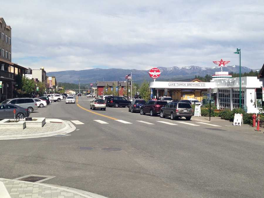 9. Walk around downtown Truckee: The quaint mountain town has a gorgeous backdrop of the mountains and is lined with cute shops and delicious restaurants. It's the perfect place for an easy stroll after a long afternoon of hiking or boating.