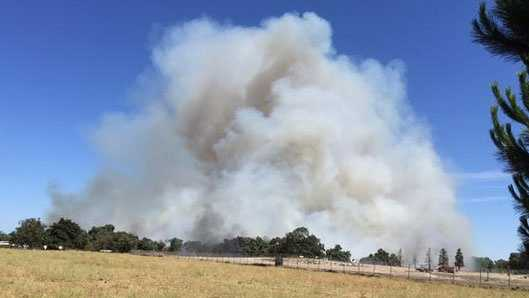 Grass fire burning south of Escalon. (June 18, 2015)