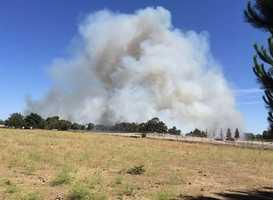 Grass fire burning south of Escalon. (June 18, 2015)