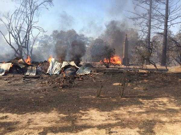Homes were leveled by a fire that swept through an area south of Escalon. (June 18, 2015)