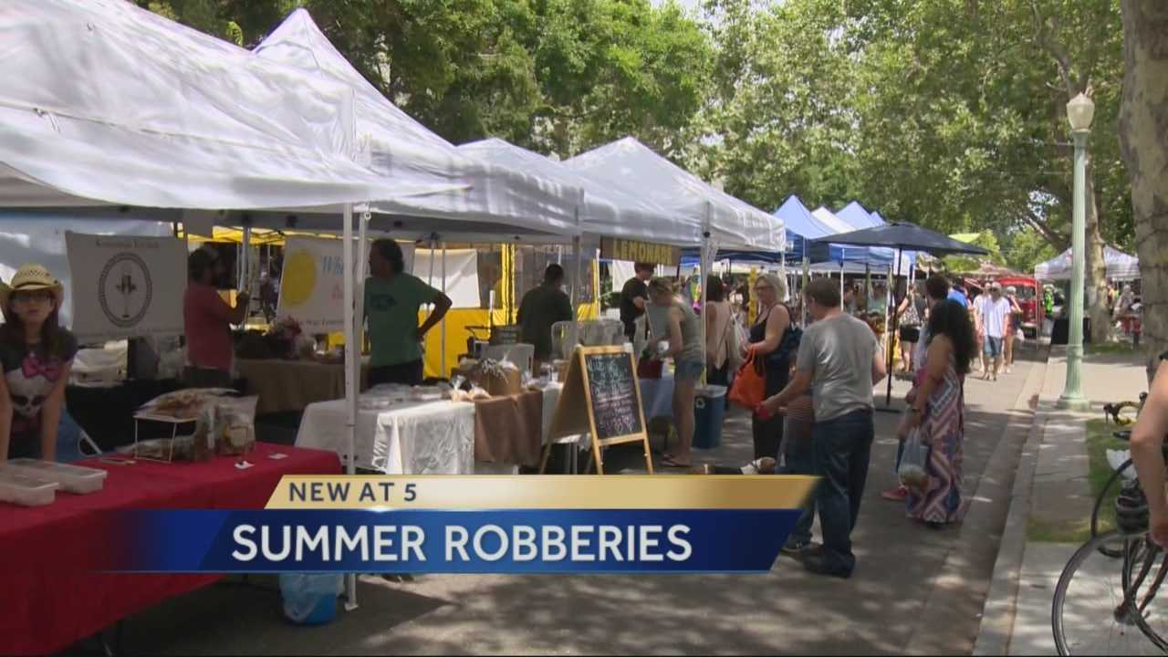 Sacramento police are warning people to be on the lookout as the number of robberies increases during summer.