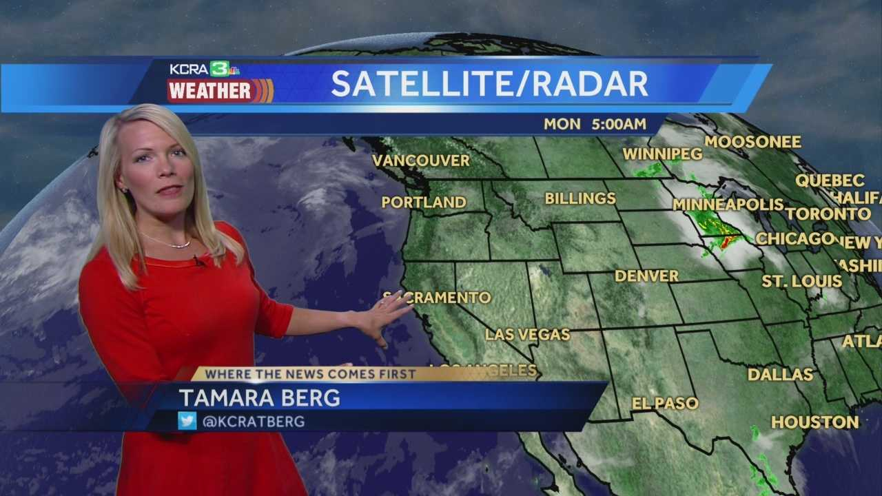 Sunny and a bit warmer to start the work week. Tamara shows us how long the Delta breeze will last.