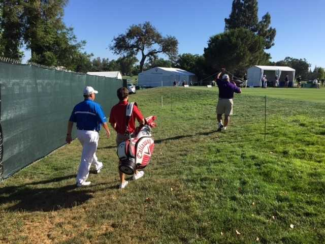 Many of the golfers began arriving at the course on Sunday to get in some practice swings -- and take in the gorgeous Northern California weather.