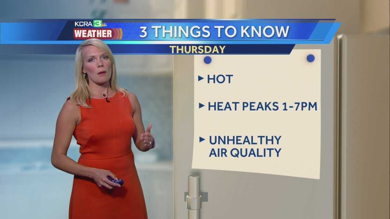 KCRA 3 Meteorologist Tamara Berg times out when the heat will peak and how long it will last.
