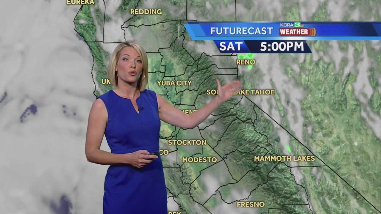 KCRA 3 Meteorologist Eileen Javora shows how much our temps will drop and where to expect thunderstorms.