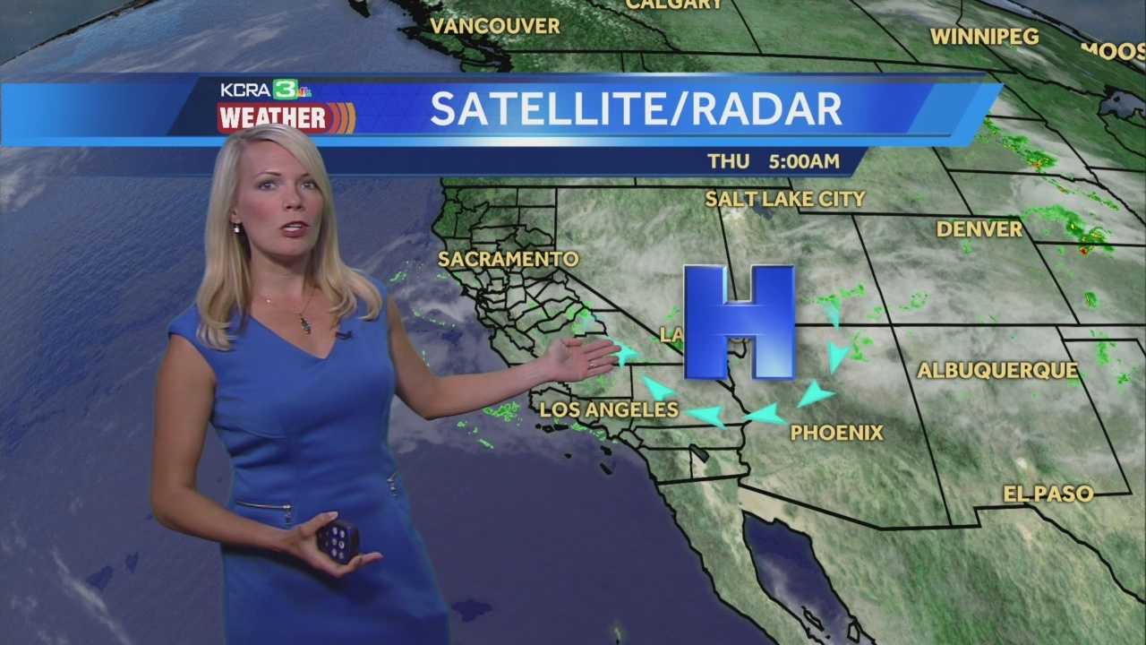 KCRA 3 Weather meteorologist Tamara Berg looks at today's rain and thunderstorm chances.