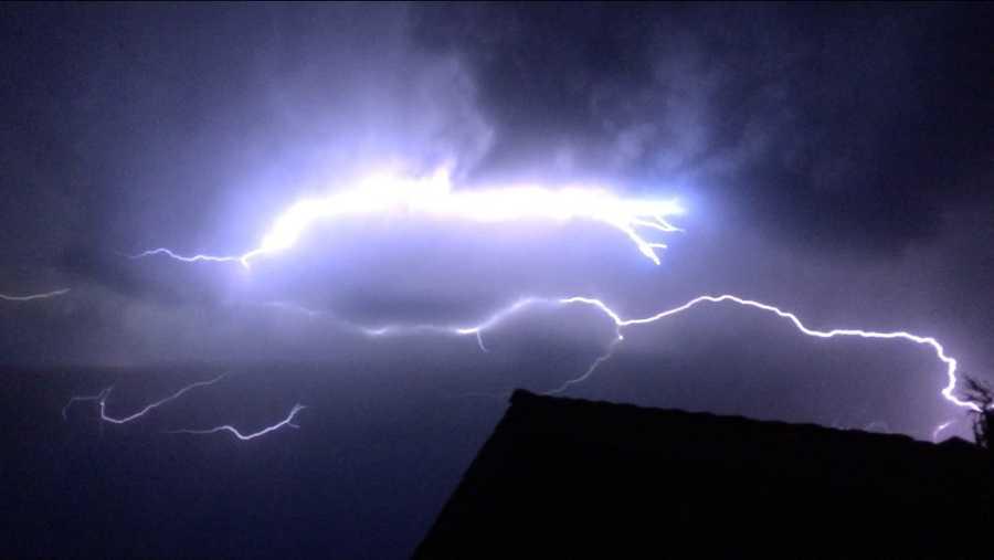 Lightning near Turlock (July 2, 2015)