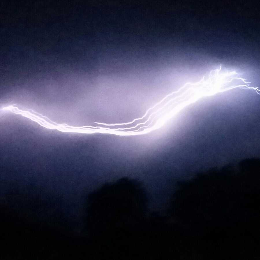 Lightning near Modesto (July 2, 2015)