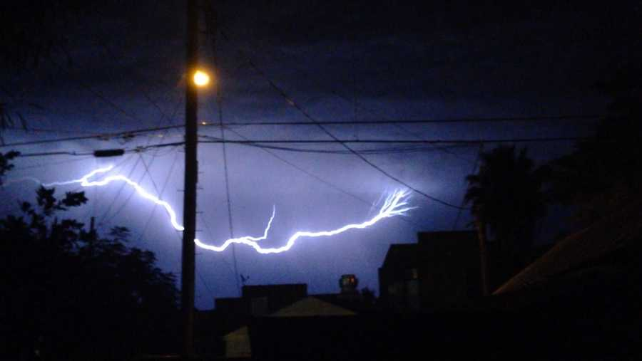 Lightning near Newman (July 2, 2015)