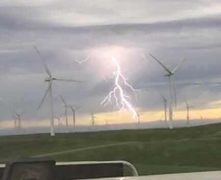 Lightning near Rio Vista (July 2, 2015)
