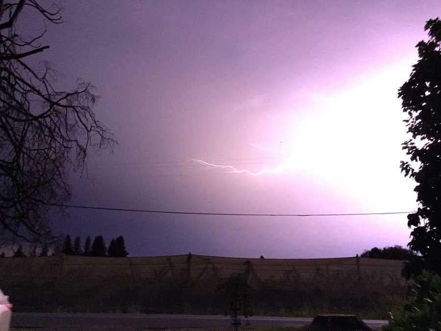 Lightning near Marysville (July 3, 2015)