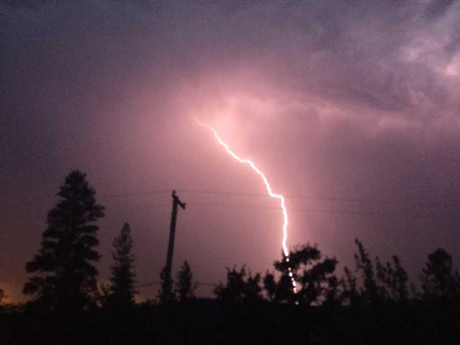 Lightning near Grass Valley (July 3, 2015)