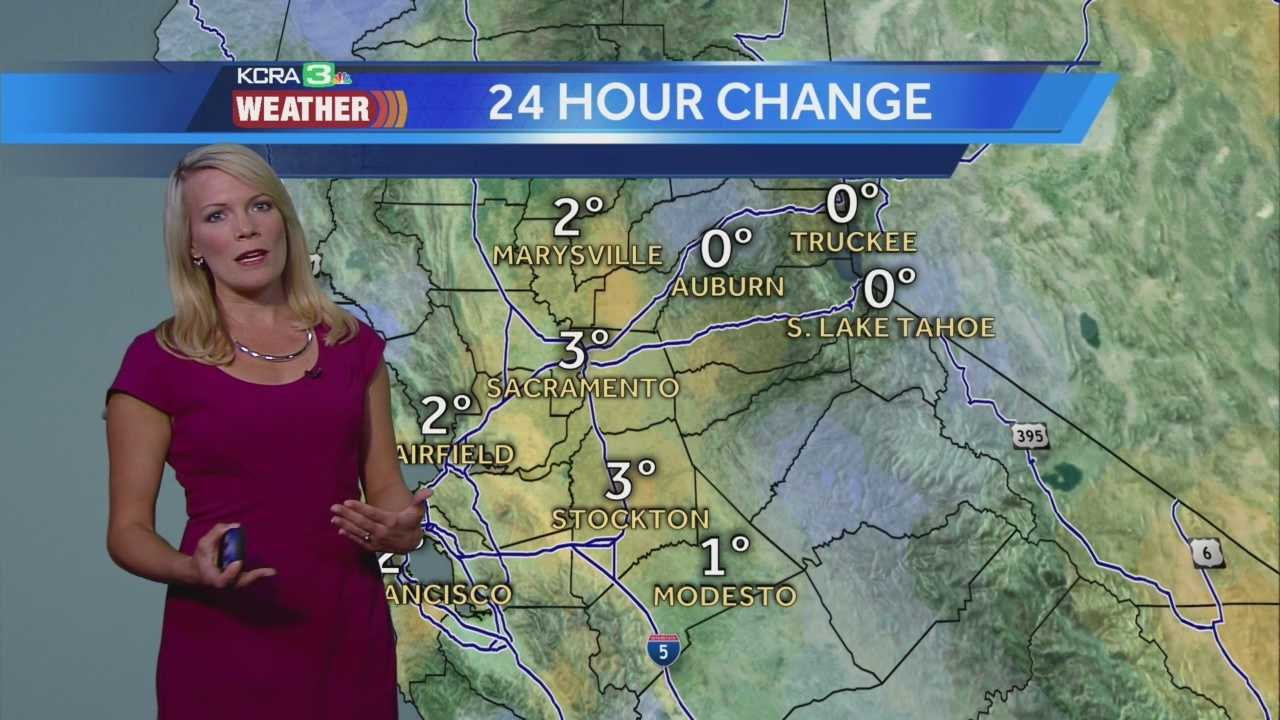 KCRA 3 Meteorologist Tamara Berg shows us how the Delta breeze is impacting temperatures.