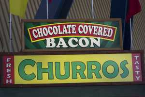 Looking for some meat with a touch of sweet? Try some chocolate covered bacon.