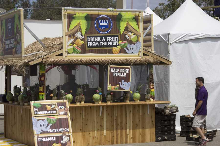 Who wouldn't want to try a fruit in a fruit during a hot day at the California State Fair?