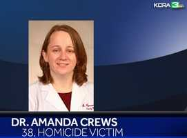 """Dr. Amanda Crews, 38, was one of the five homicide victims found Saturday. She worked for the Stanislaus County Health Service Agency.Two of her daughters were among the victims in the Modesto slayings. Her son, Christopher Ripley, died in October from """"blunt force trauma,"""" according to police."""