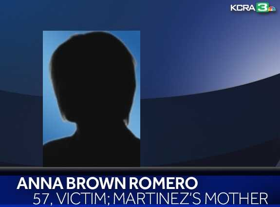 Anna Brown Romero, 57, was found dead inside the home and has been identified as Martinez's mother. Her photo has not been released.