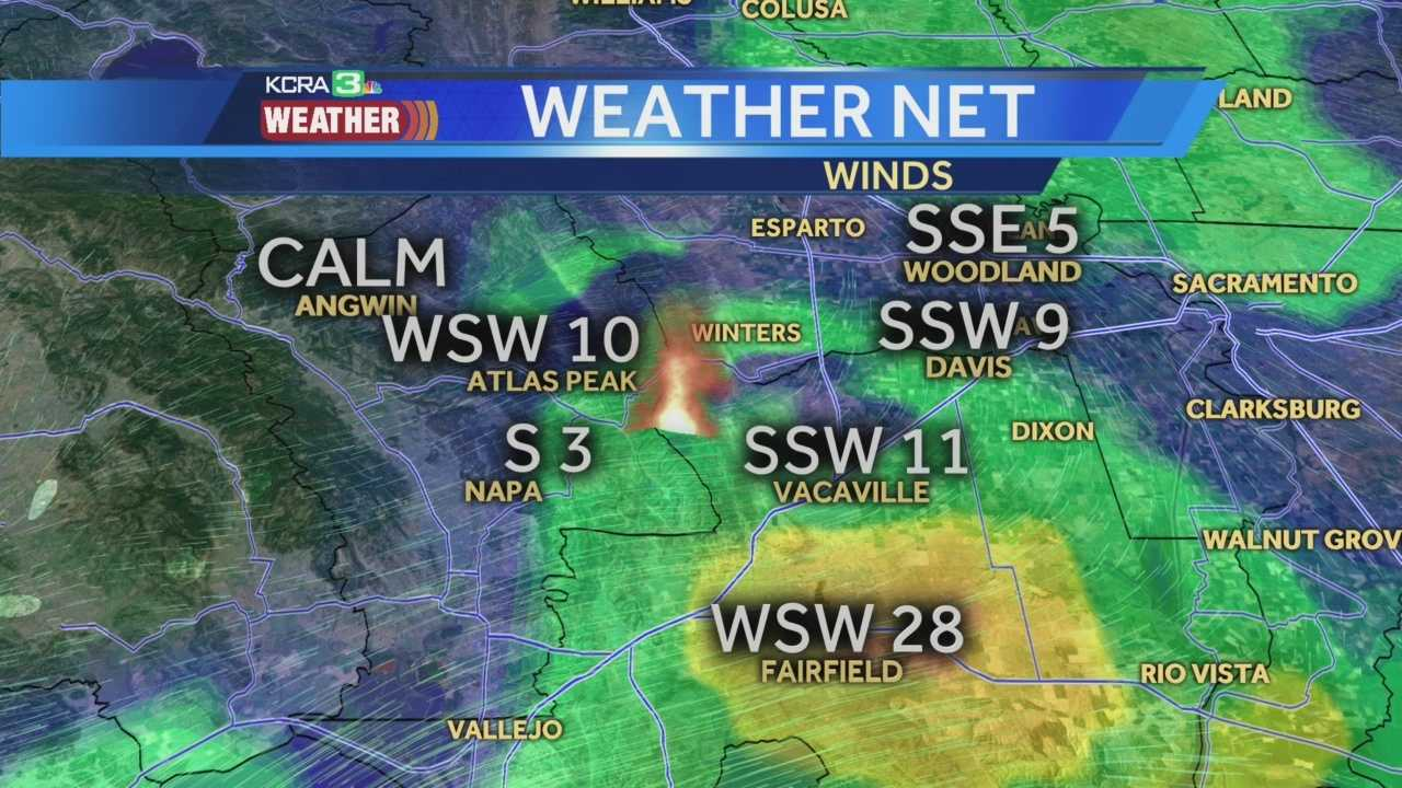 KCRA meteorologist Dirk Verdoorn explains how the winds are impacting a wildfire burning near Lake Berryessa.