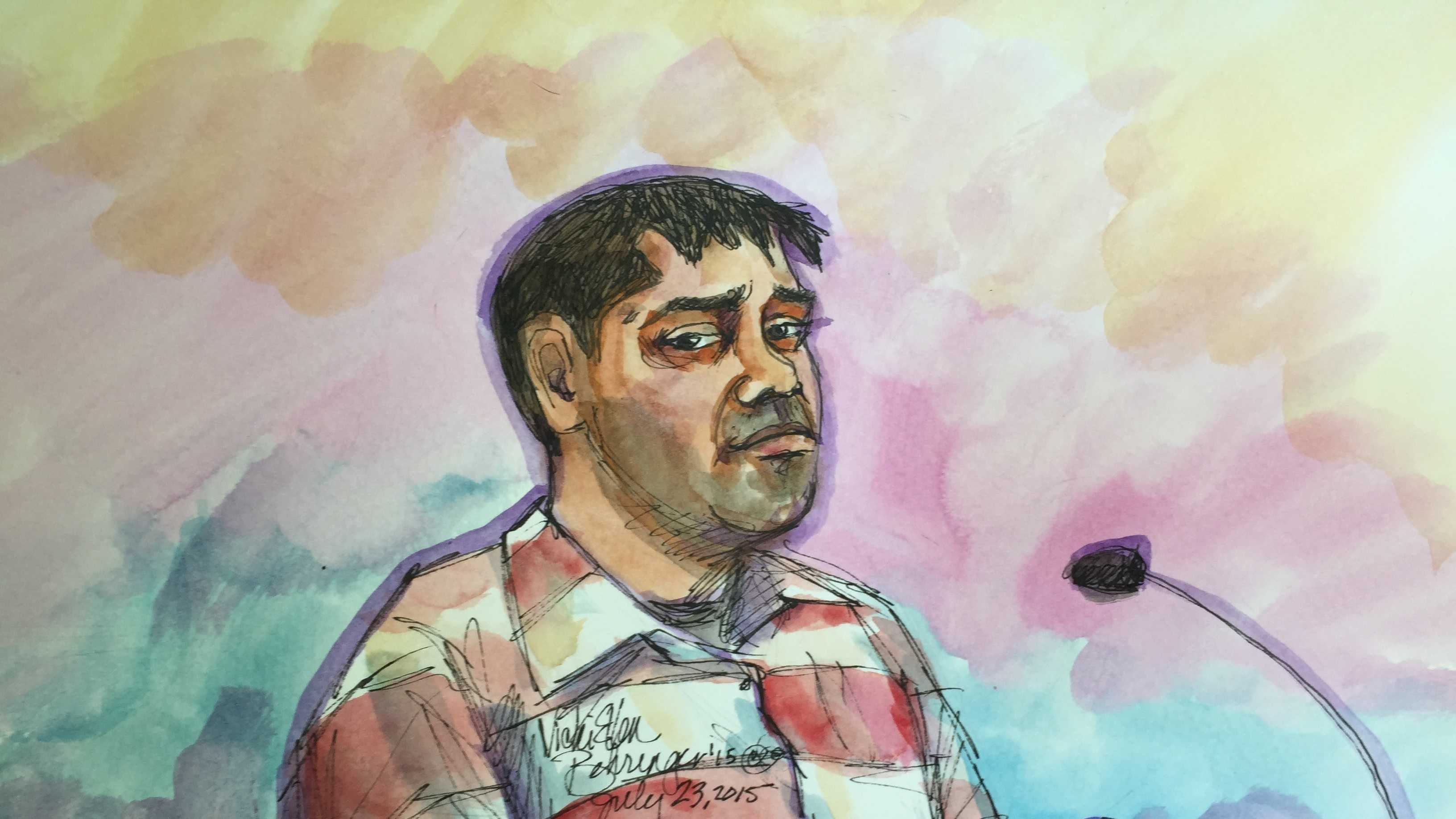 Martin Martinez in court (July 23, 2015)