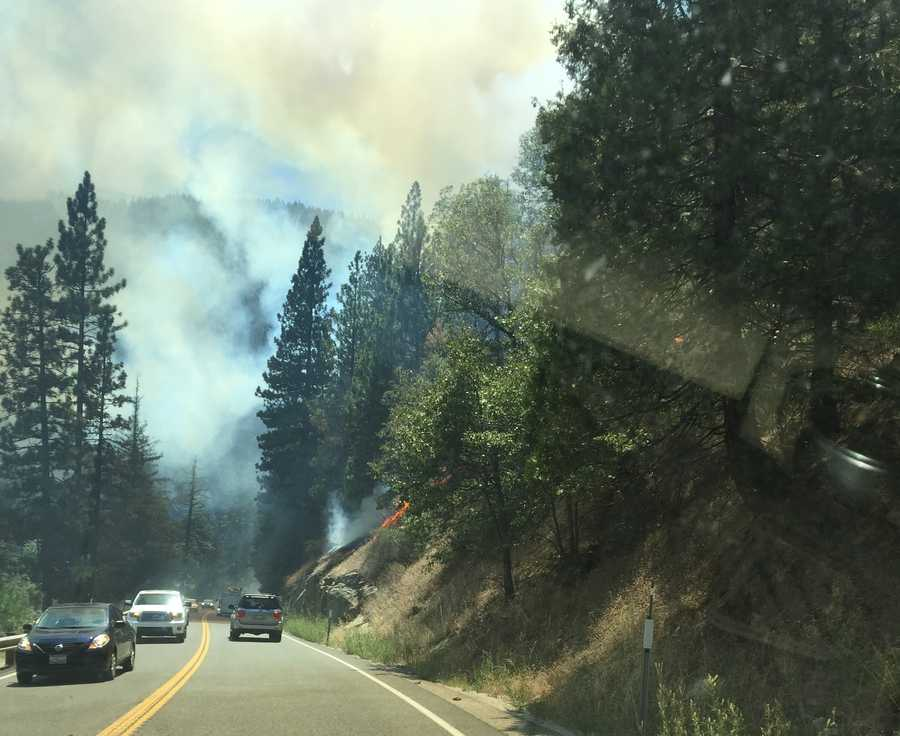 The 100-acre fire, which was reported about 2:15 p.m. Thursday, is burning north of the American River in the Whitehall area and has prompted some mandatory and voluntary evacuations, crews said.