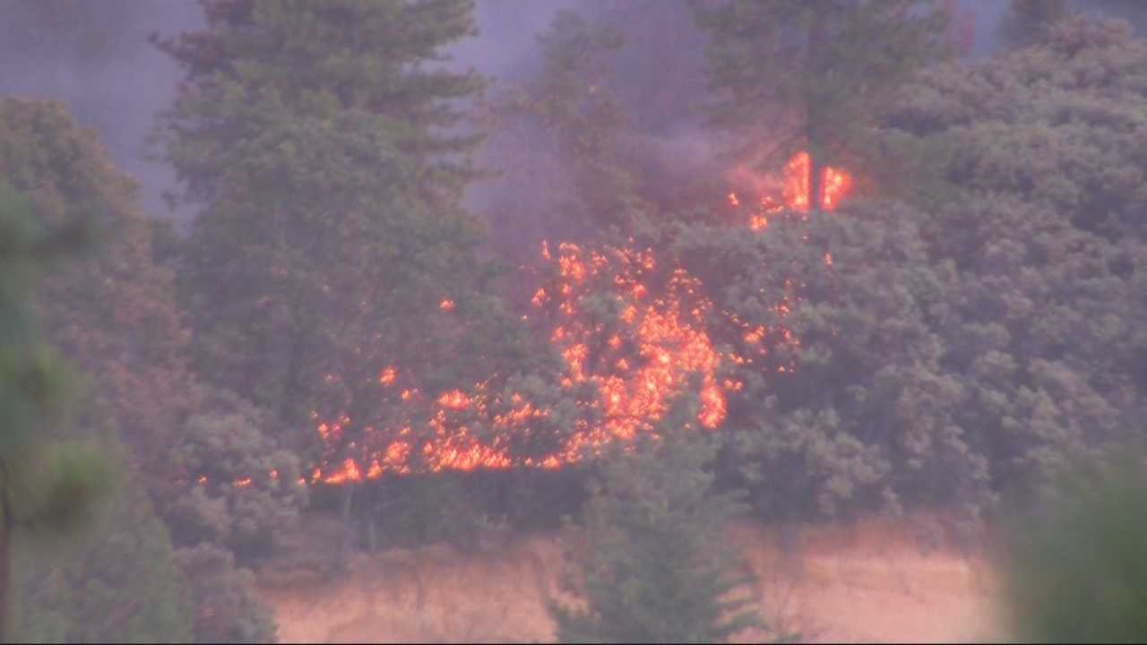 According to Cal Fire spokesman Daniel Berlant the 'Lowell Fire' burning in Nevada County is approximately 1,500 acres and only about 5 percent contained.