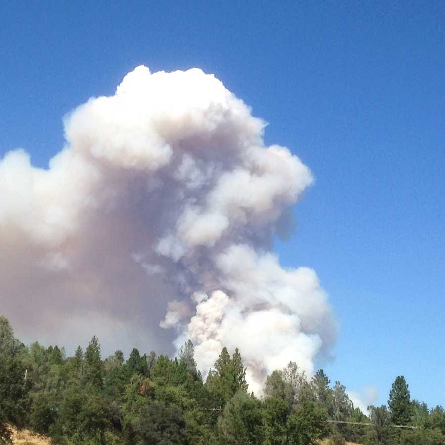 The Lowell Fire burned near Chicago Park in Nevada County.