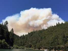 A wildland fire burning in Nevada County put out a huge plume of smoke that was visible for miles away. Many KCRA viewers snapped some cool, but eerie photos of the large blaze. Here are 25-must see photos of the Lowell Fire.