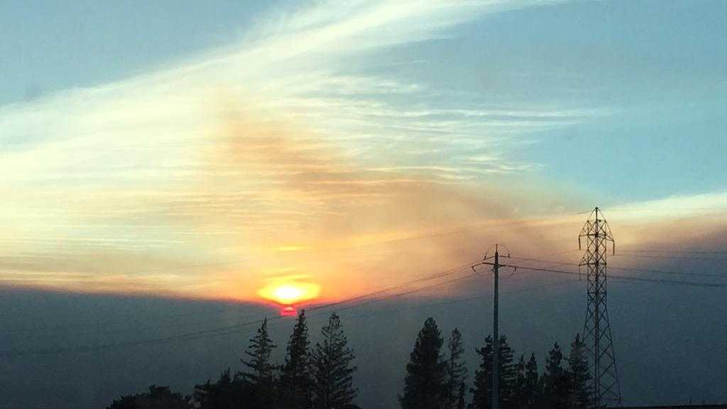 This sunset photo of the smoky skies above the Wragg Fire was snapped by KCRA photographer Alan Blaich.