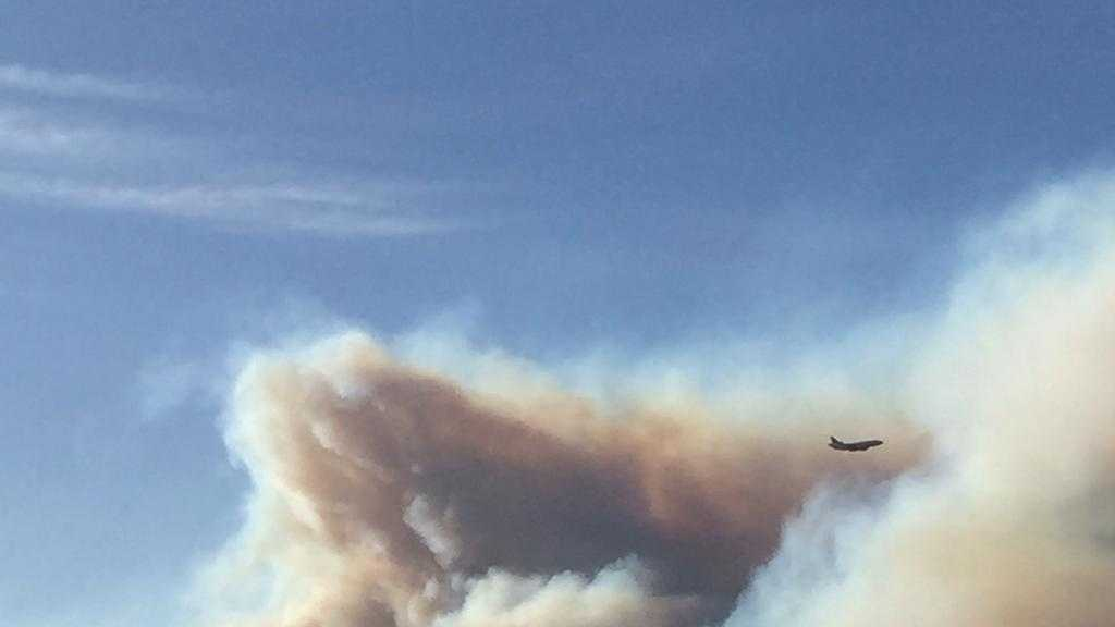 Another picture of the smoke seen coming from the Wragg Fire, which burned more than 8,000 acres in Napa and Solano counties.