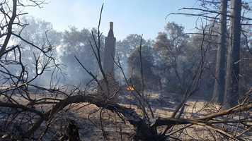 KCRA photographer Alan Blaich captured this photo after a wildfire swept through an area near Escalon, destroying three homes.