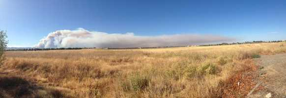 KCRA reporter Mike Luery took this panoramic photo of the so-called Wragg Fire that burned near Lake Berryessa.