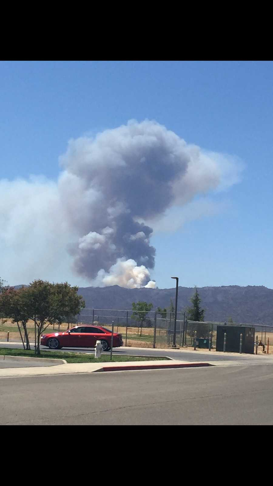 See photos of Tuesday's flare-up in the so-called Wragg Fire burning near Lake Berryessa. (July 28, 2015)