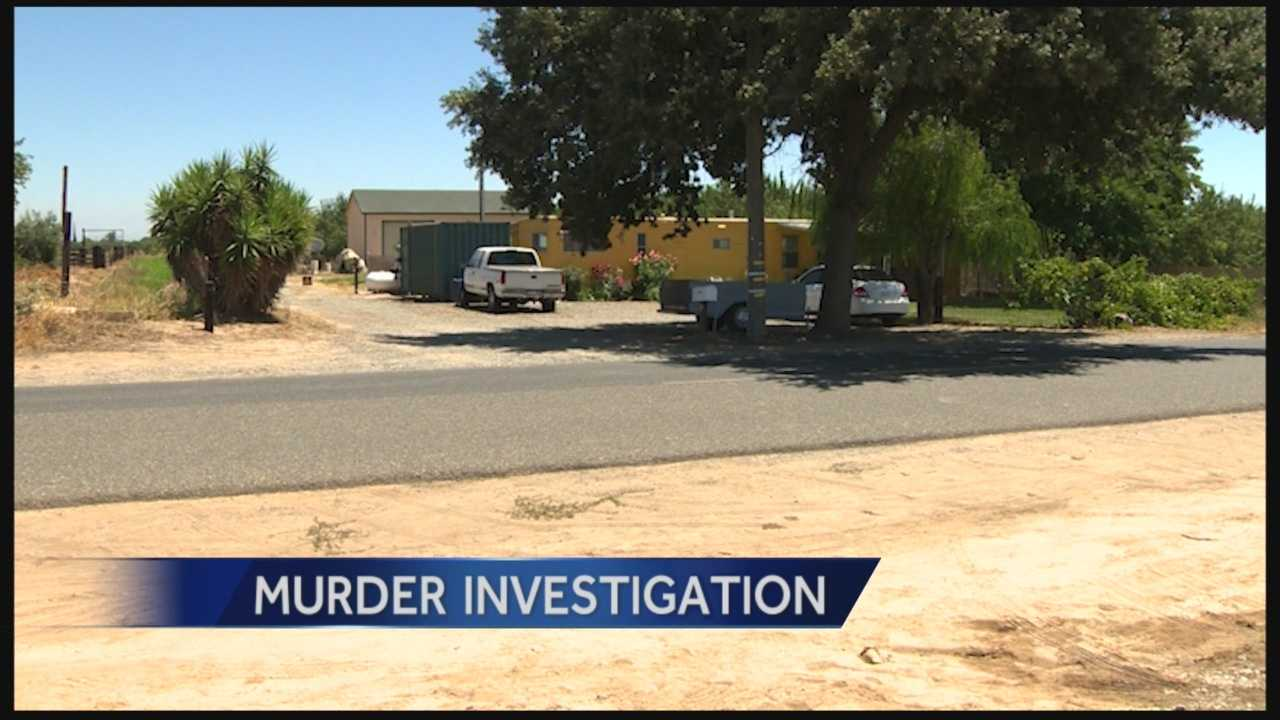 A Riverbank man is under arrest, accused of killing his wife with a shovel.