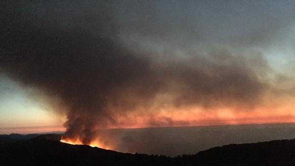 Wragg Fire near Lake Berryessa (July 29, 2015)