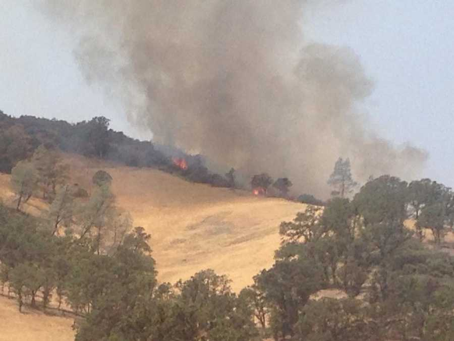 Smoke could be seen for miles away as more than 7,000 structures were threatened by the massive wildfire burning in Lake, Yolo and Colusa counties. (Aug. 3, 2015)