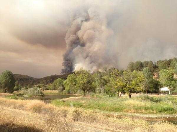 The Rocky Fire jumped Highway 20 on Monday evening, which was being used as a sort of containment line for crews. (Aug. 3, 2015)