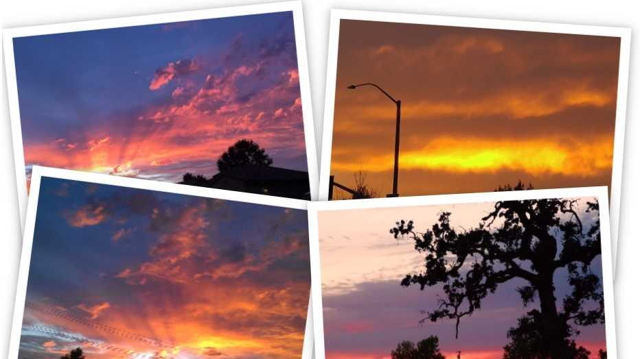 Our u local viewers sent in a batch of spectacular photos showing the sunset in Northern California. Did you see it?