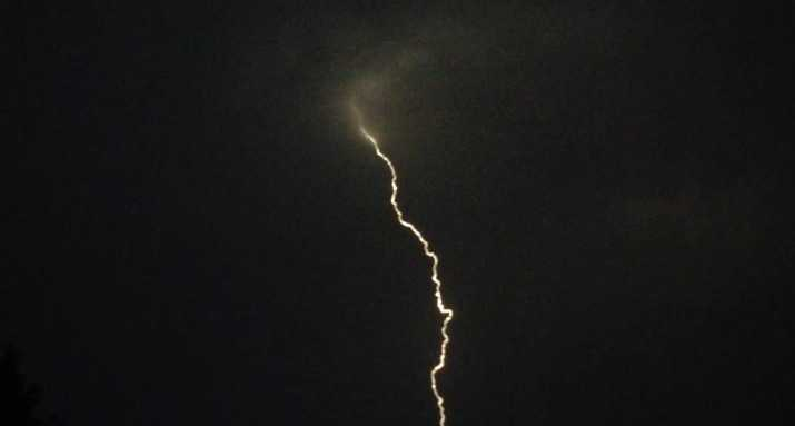 A single bolt could be seen in Manteca. (Aug. 6, 2015)