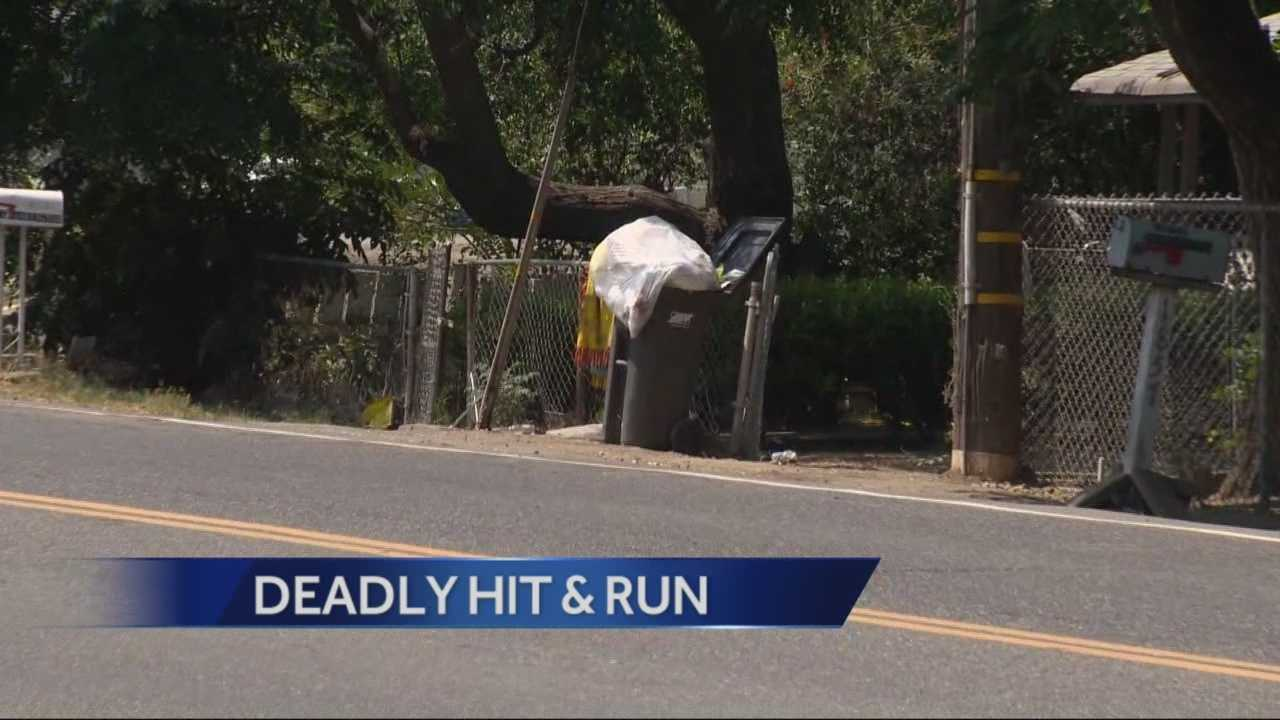 Stockton police are searching for a hit and run driver who killed a man riding a scooter.