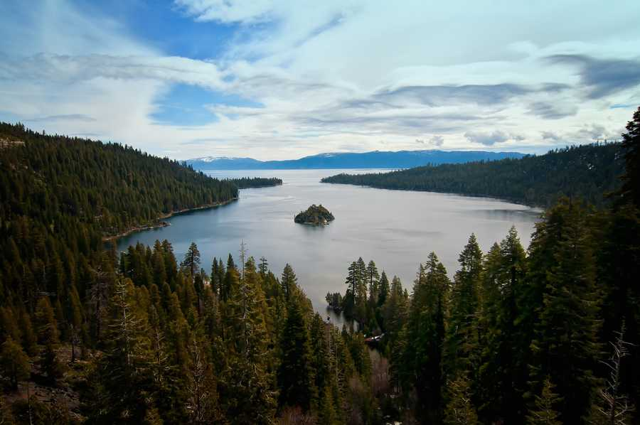 15. Emerald Bay -- And right back to where we started. Lake Tahoe's Emerald Bay provides a unique view of the lake with its tiny island in the middle.