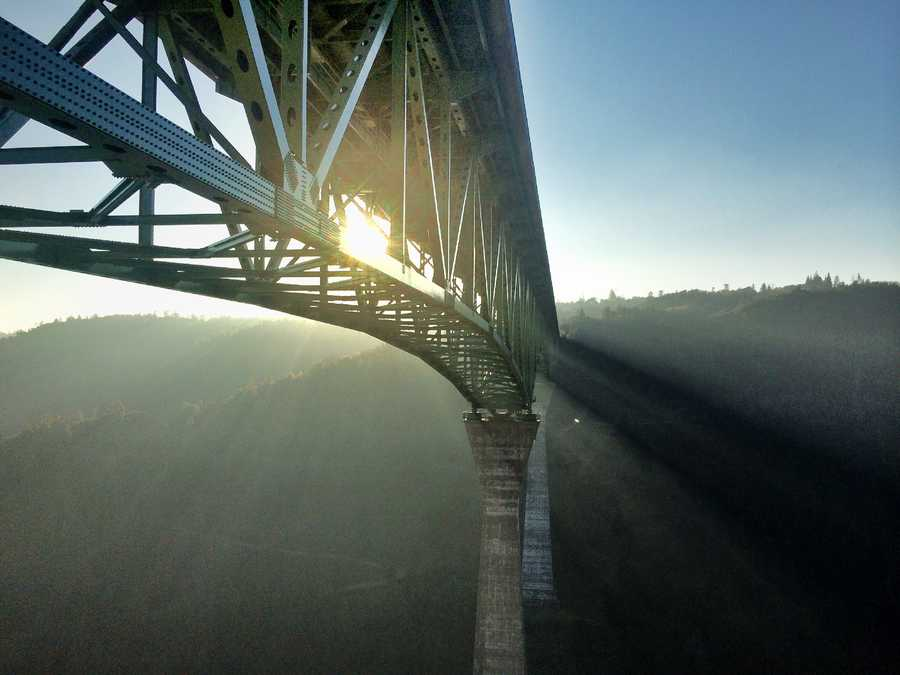 8. Foresthill Bridge -- This is the highest bridge in all of California and the fourth highest in the United States. Beautiful shots of the Auburn bridge can be captured up top or from down below along the American River.