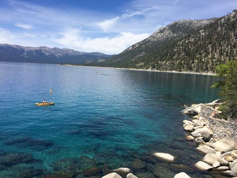 1. Lake Tahoe -- Because, duh. The beautiful, crystal clear water and towering mountains surrounding the lake make it a perfect spot for photographs.