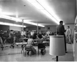 This photo was taken during election night in either 1959 or 1960.