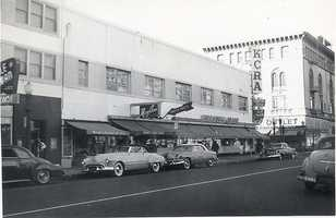 KCRA started as a radio station that was located at J and 11 streets in downtown Sacramento. Here's a picture of how it looked in 1955.