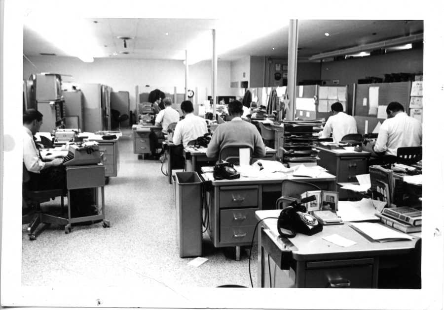 KCRA-TV signed on the air on Sept. 3, 1955. Here's a look at the original KCRA newsroom located at 3 Television Circle in downtown Sacramento. The building was located next to the Crystal Creamery site.
