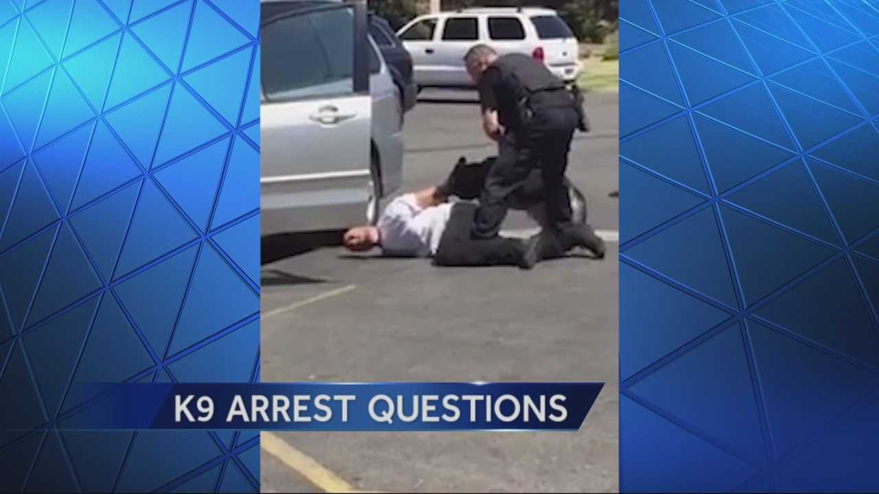 A video shot of a K9 arrest in Stockton is raising questions about the length of time the K9 officer held the suspect.