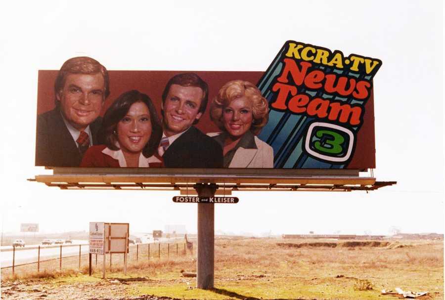 A KCRA 3 News team billboard from 1979.