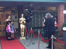 Paparazzi lined a red carpet as the Hollywood Park Stars walked onto campus. (Sept. 3, 2015)